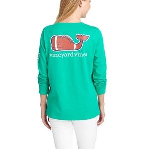 Vineyard Vines Long-Sleeve Classic Football Tee